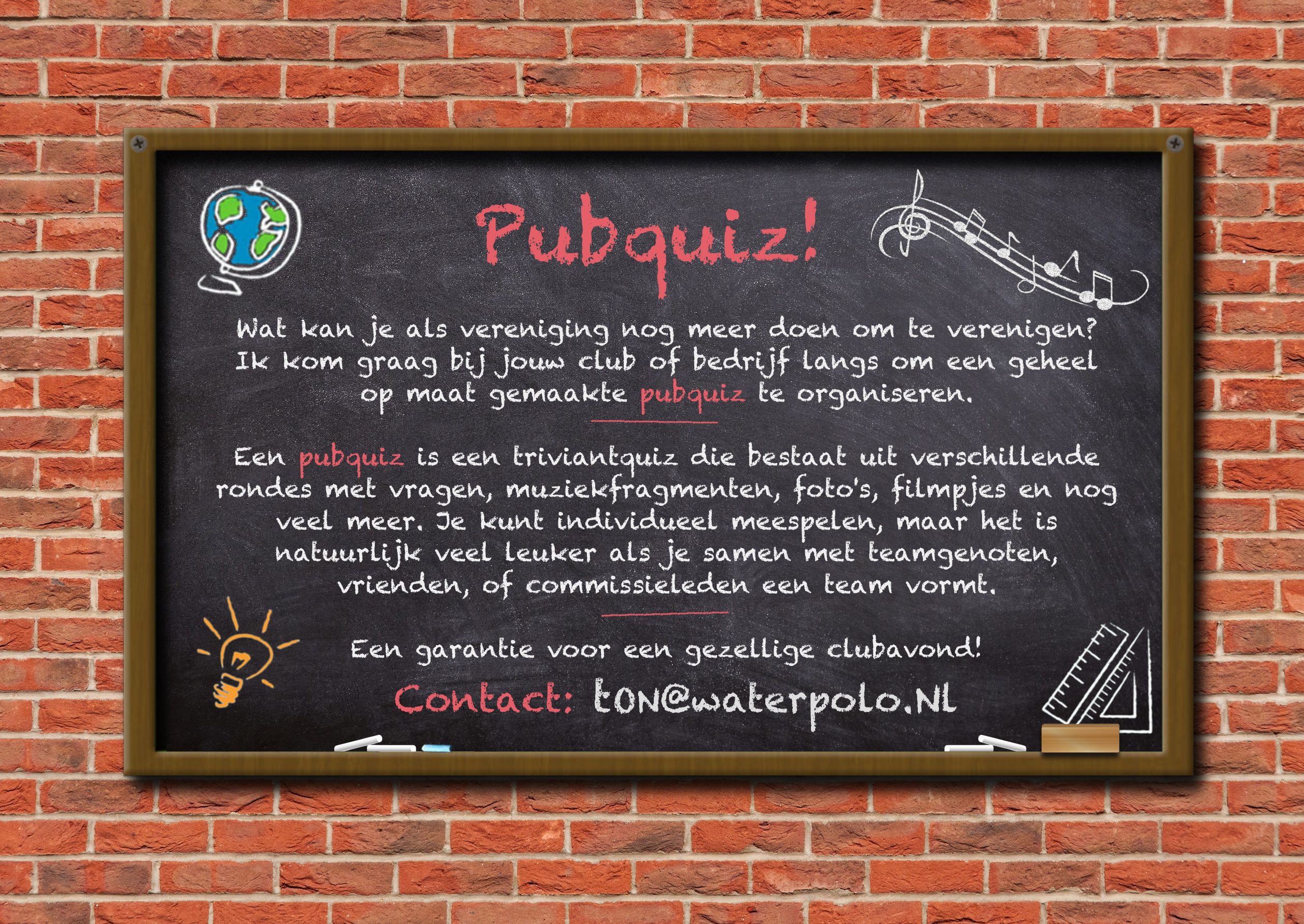 Pubquiz ad WaterpoloNL