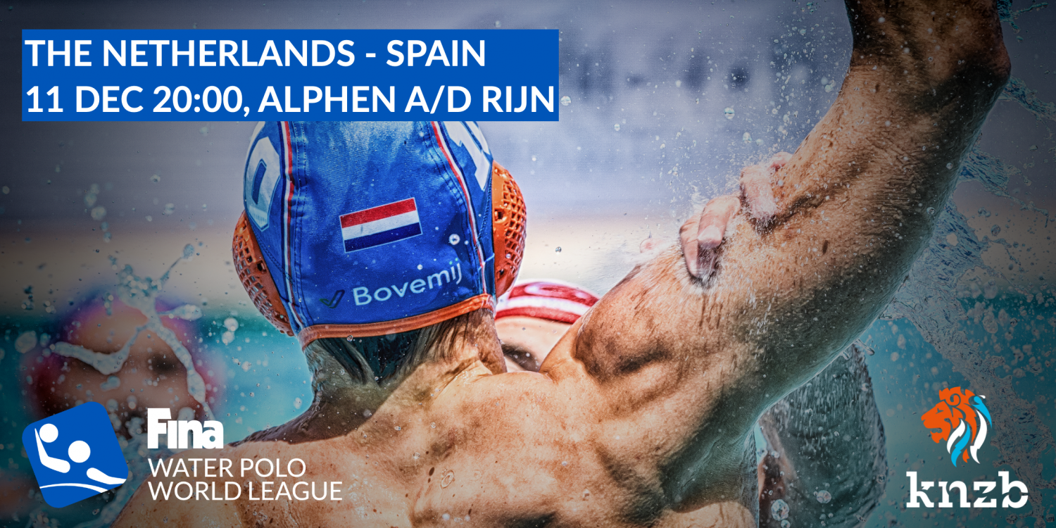 Tickets voor World League waterpolo Nederland - Spanje (m)